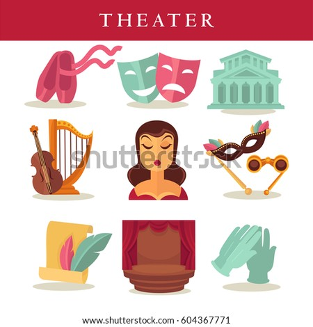 theater flat poster of symbolic