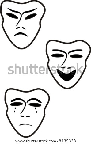 theatre mask clipart. stock vector : Theater masks