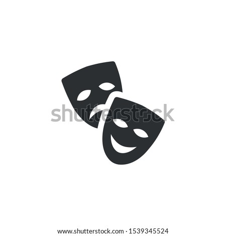 Theater masks, teatr icon - Vector Zdjęcia stock ©