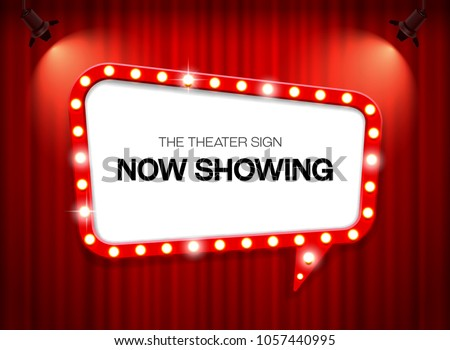 theater sign on curtain #1057440995