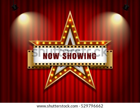 theater sign star shape on