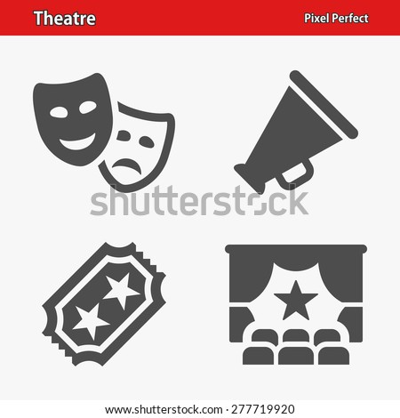 Theatre Icons. Professional, pixel perfect icons optimized for both large and small resolutions. EPS 8 format. Designed at 32 x 32 pixels. - Shutterstock ID 277719920