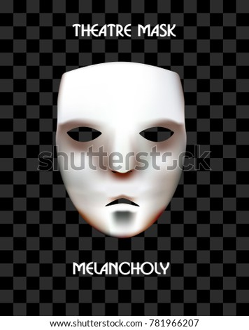 theatre mask on a checkered