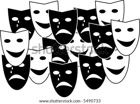 theatre mask clipart. stock vector : Theatre masks