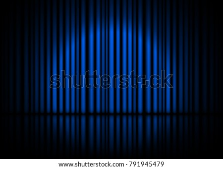 theatrical scene with blue