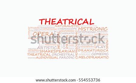 theatrical word cloud abstract