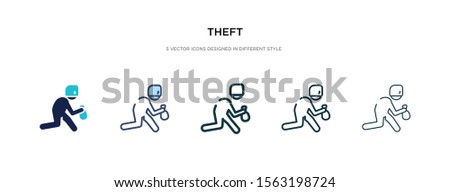 theft icon in different style