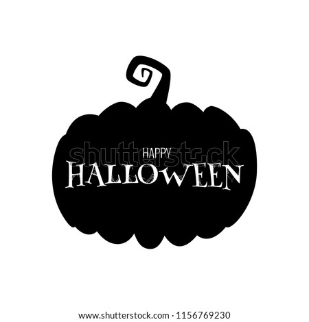 Thematic postcard to Helloween with unique lettering