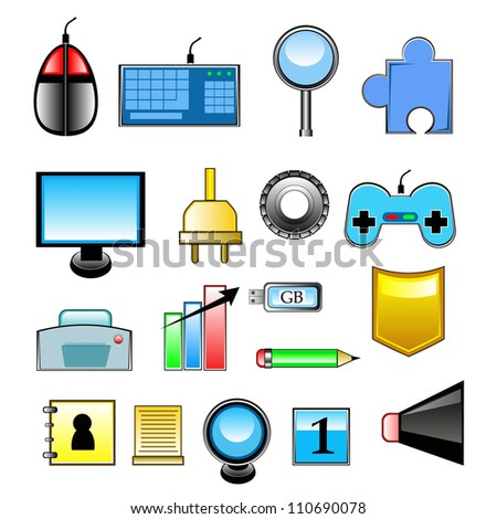 thematic set of icons for your unique and original design - stock vector