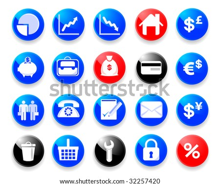 Theme Icons by office, business, finance.
