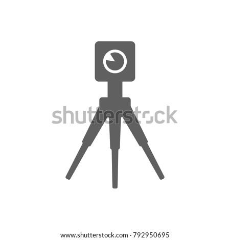 theodolite icon vector