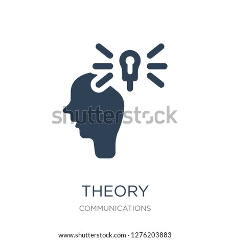 theory icon vector on white background, theory trendy filled icons from Communications collection, theory vector illustration