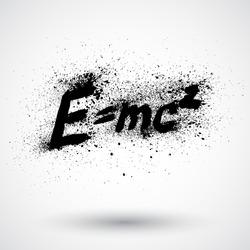 Theory of relativity by Albert Einsteins grunge sign