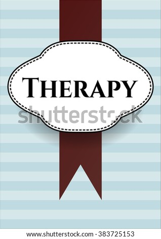 Therapy card with nice design