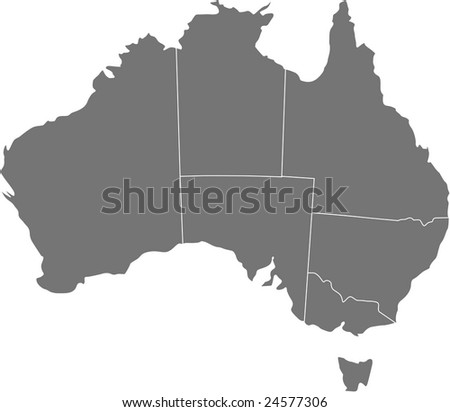 There is a map of Australia country
