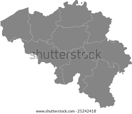 There is a map of Belgium country