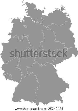 there is a map of germany