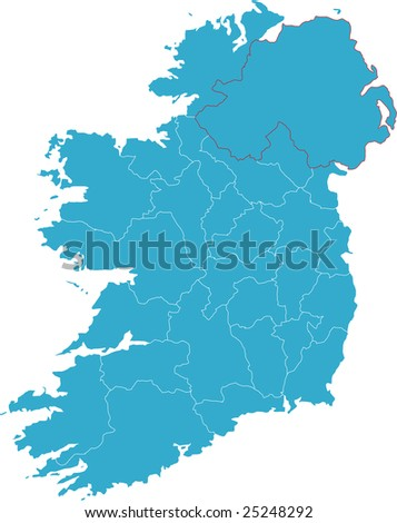 There is a map of Ireland country