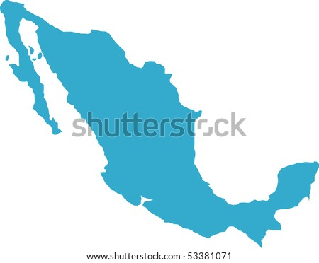 There is a map of Mexico country