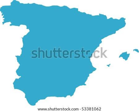 There is a map of Spain country