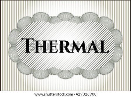 Thermal card with nice design