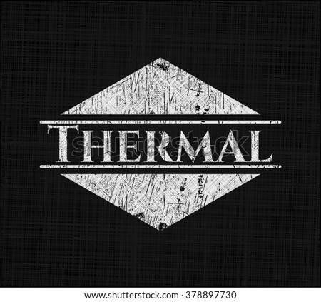 thermal chalkboard emblem