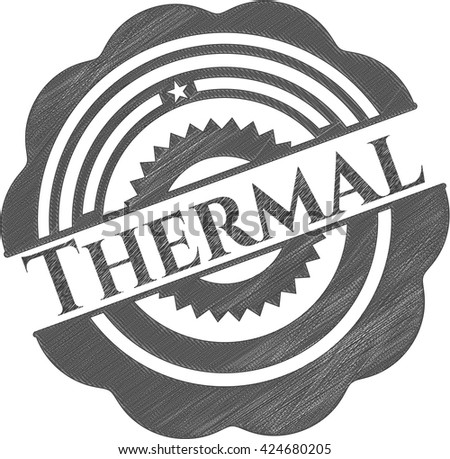 Thermal drawn with pencil strokes