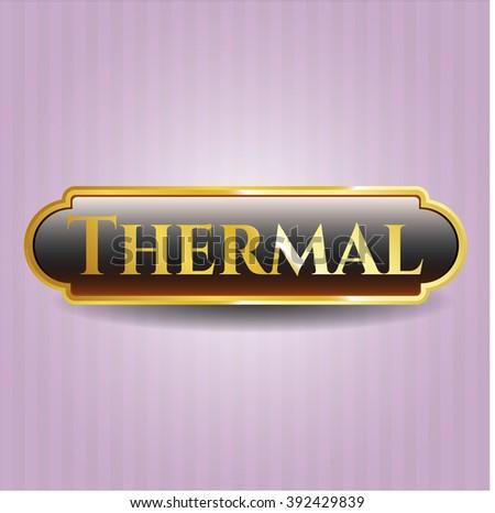 Thermal golden emblem