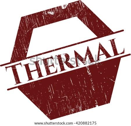 Thermal grunge stamp