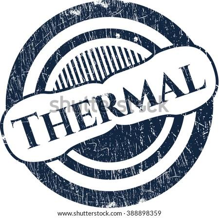 Thermal grunge style stamp