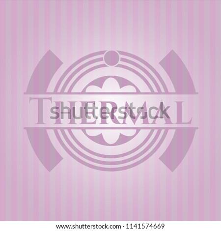 thermal pink emblem. vintage.