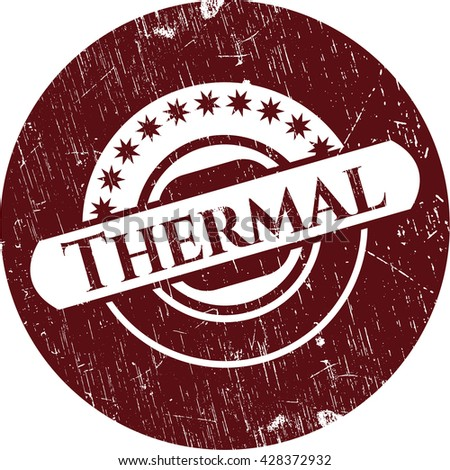 Thermal rubber grunge texture seal