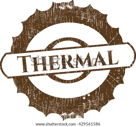 Thermal rubber grunge texture stamp