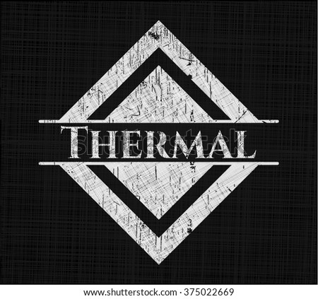 Thermal with chalkboard texture