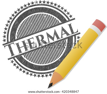 Thermal with pencil strokes