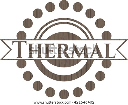 Thermal wood signboards