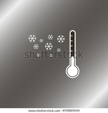 thermometer by seasons winter
