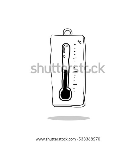thermometer doodle