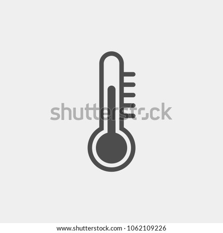 Thermometer flat vector icon. Temperature flat vector icon