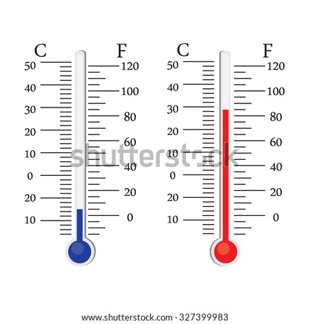 Thermometer Icon Vector Celsius And Fahrenheit