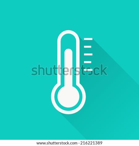 Thermometer icon , vector illustration , flat design
