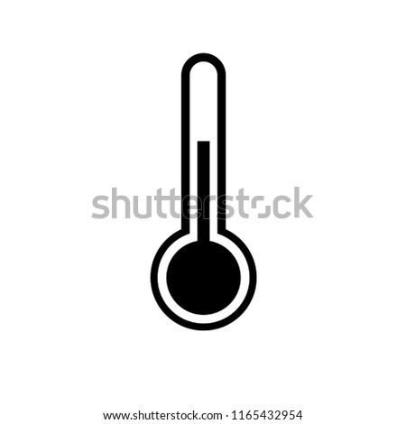thermometer icon vector isolated, simple logo, forecast weather icon