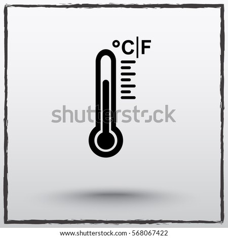 Thermometer sign icon, vector illustration. Flat design style