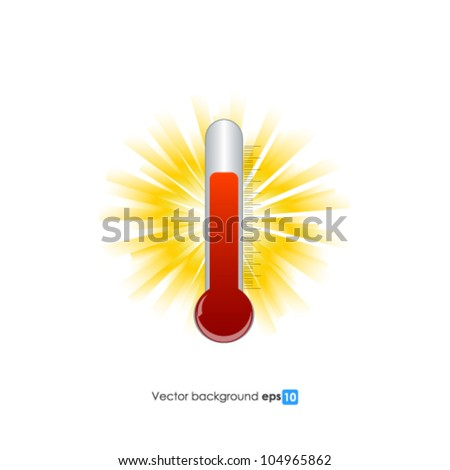 Thermometer vector background