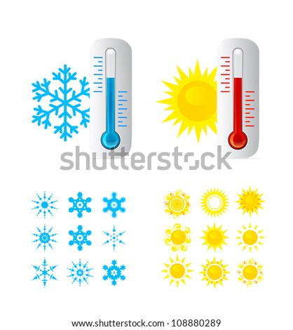 Thermometer vector set.