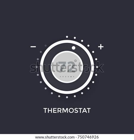 thermostat, temperature control vector illustration