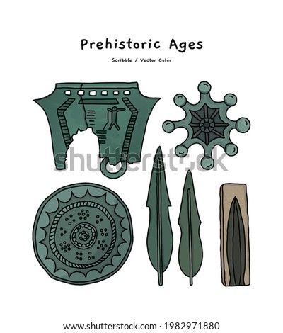 These are bronze mirrors, bronze bells, Mandolinshaped bronze dagger, molds, and artifacts from the Bronze Age.