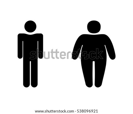 thick and slender people  stick