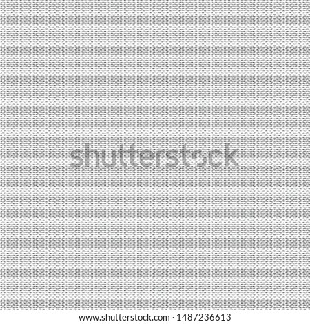 Thick dense fabric texture. Canvas. Tarpaulin. Cover. Monochrome. Halftone. Textured background. Vector illustration.