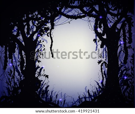 thicket at night   deep fairy